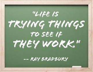 Life is trying things to see if they work. ...